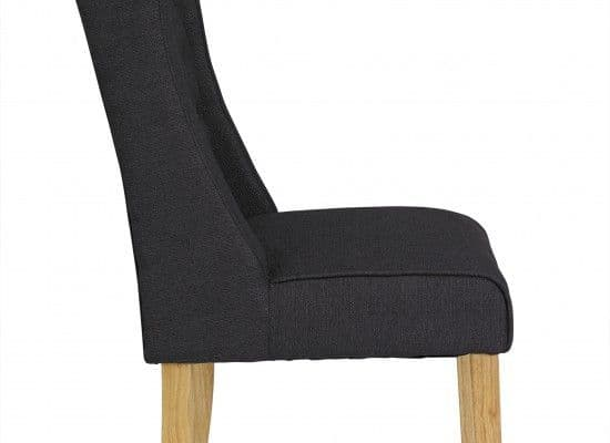 Orleans Charcoal Fabric Set Of 2 Wing Dining Chairs 17LD462